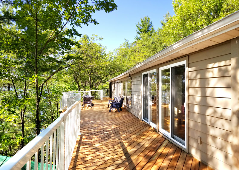 3978 East Shore Road waterside deck with views of Gloucester Pool