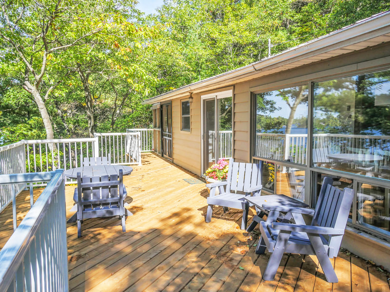 3978 East Shore Road deck with view of lake