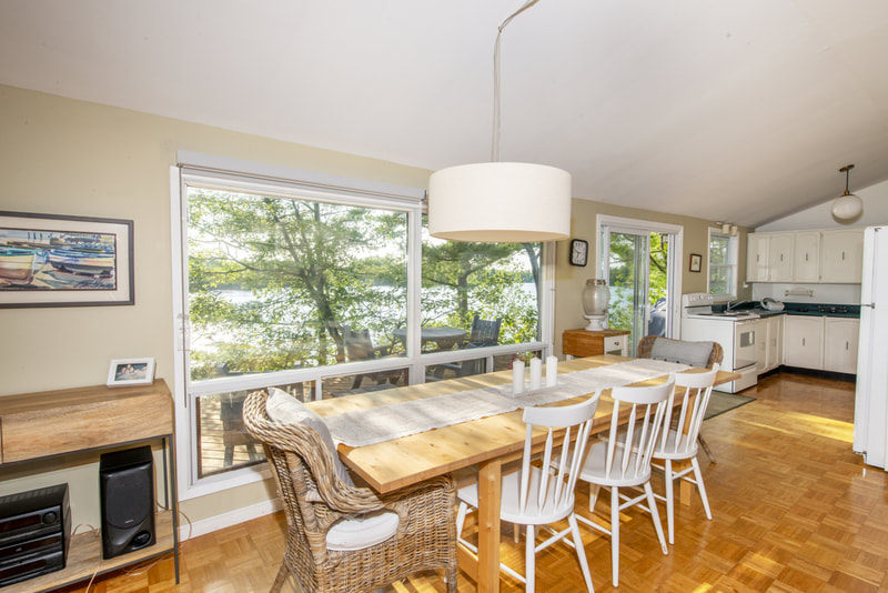 3978 East Shore Road dining area with views of Gloucester Pool
